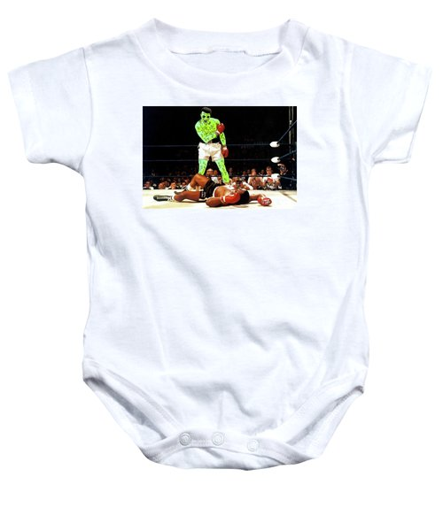 Baby Onesie featuring the painting Long Live Ali by Chief Hachibi
