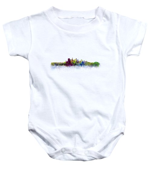 Los Angeles City Skyline Hq V3 Baby Onesie by HQ Photo