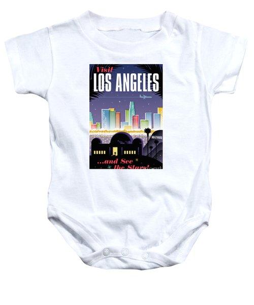 Los Angeles Retro Travel Poster Baby Onesie