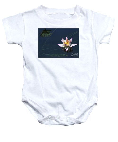 Lotus And Reflection Baby Onesie