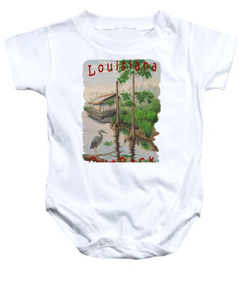 Louisiana Outback Baby Onesie