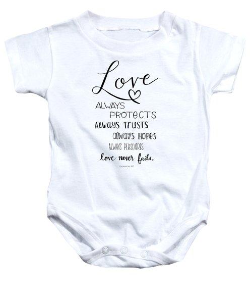 Love Always Baby Onesie