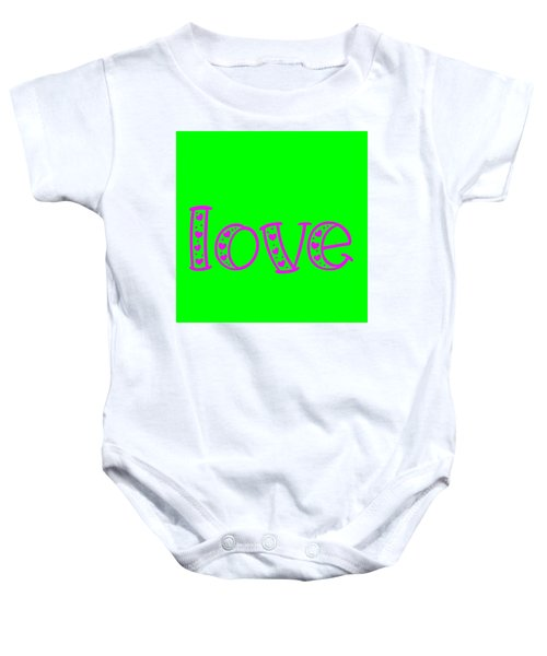 Love In Magenta And Green Baby Onesie