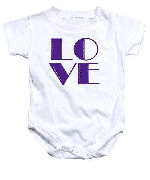 Love In Purple Baby Onesie by Liesl Marelli