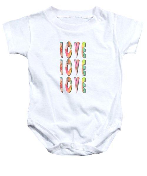Love Love Love Phone Case Baby Onesie