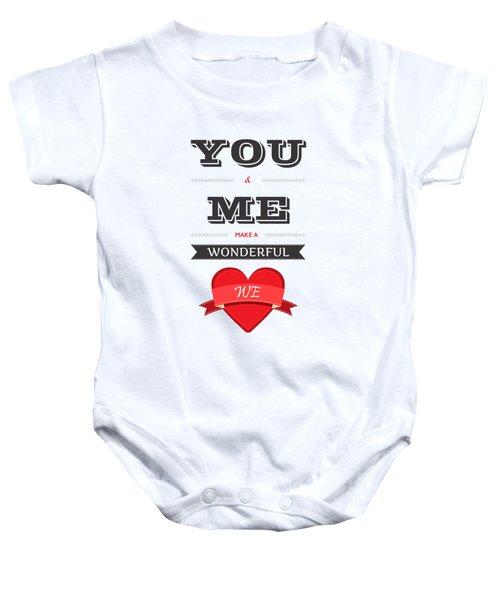 Love Lyrics Quotes Typography Quotes Poster Baby Onesie