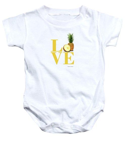 Love Pineapple Baby Onesie