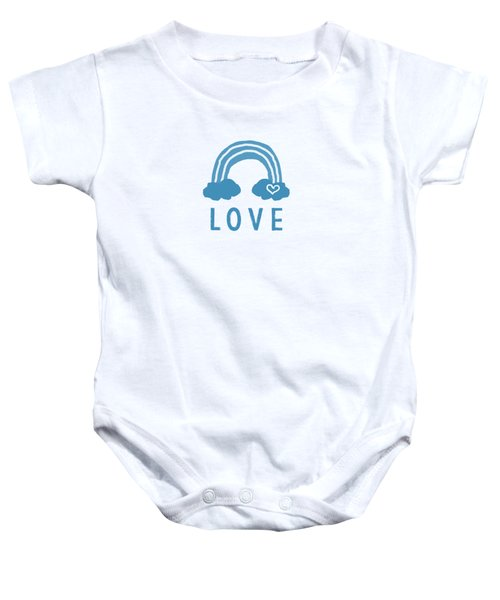 Love Rainbow- Art By Linda Woods Baby Onesie