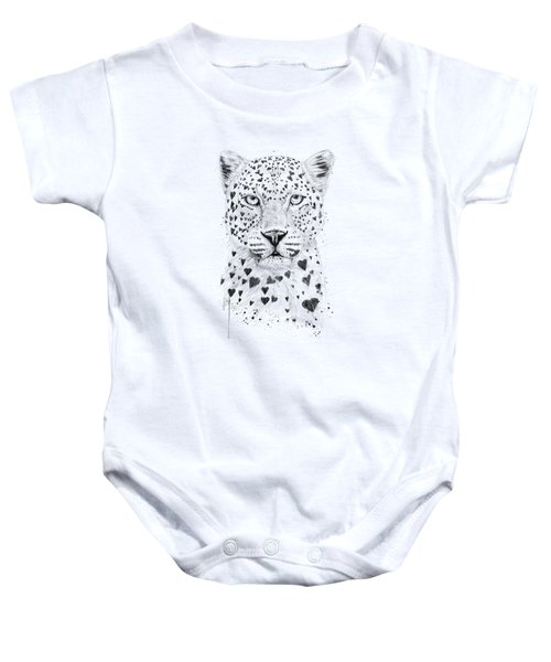 Lovely Leopard Baby Onesie by Balazs Solti