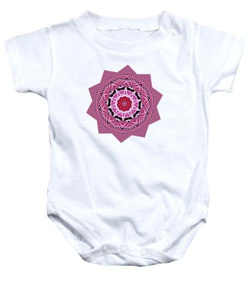 Loving Rose Mandala By Kaye Menner Baby Onesie by Kaye Menner
