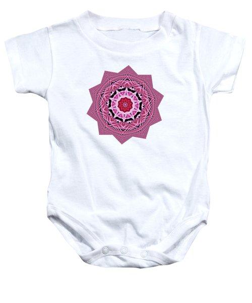 Loving Rose Mandala By Kaye Menner Baby Onesie