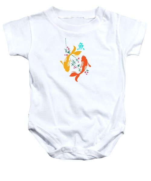 Lucky Koi Fish Baby Onesie by Naviblue