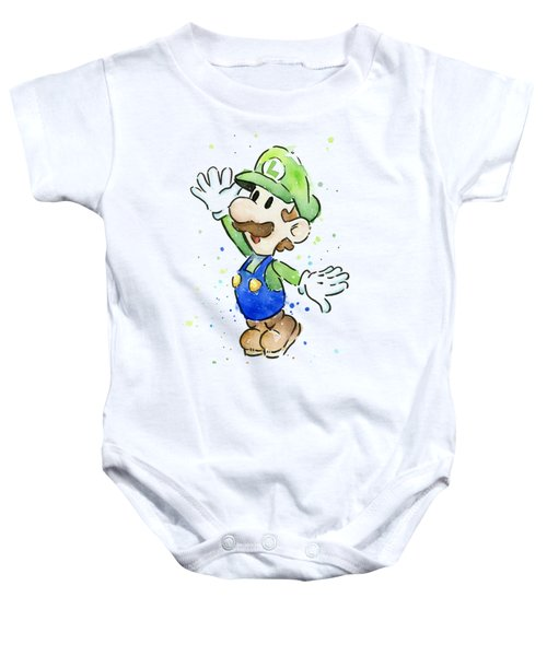 Luigi Watercolor Baby Onesie