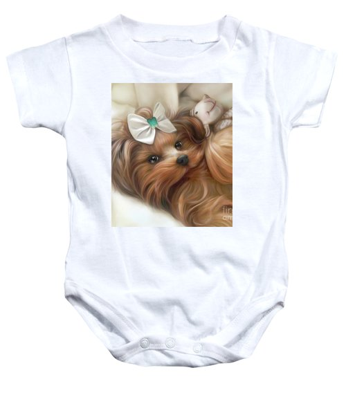 Lulu And Mr.lamb Baby Onesie
