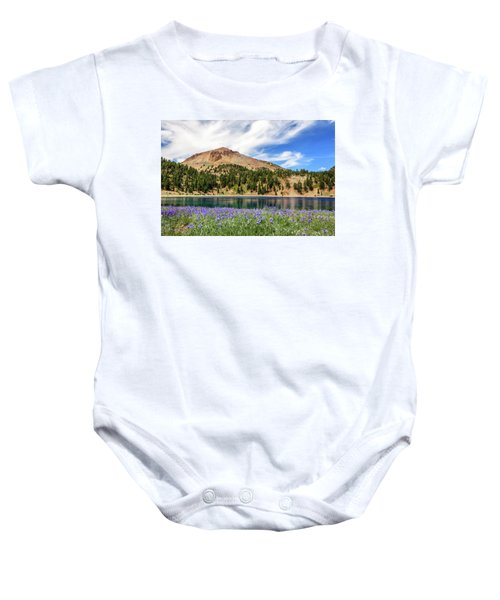 Lupines Lake And Lassen Baby Onesie