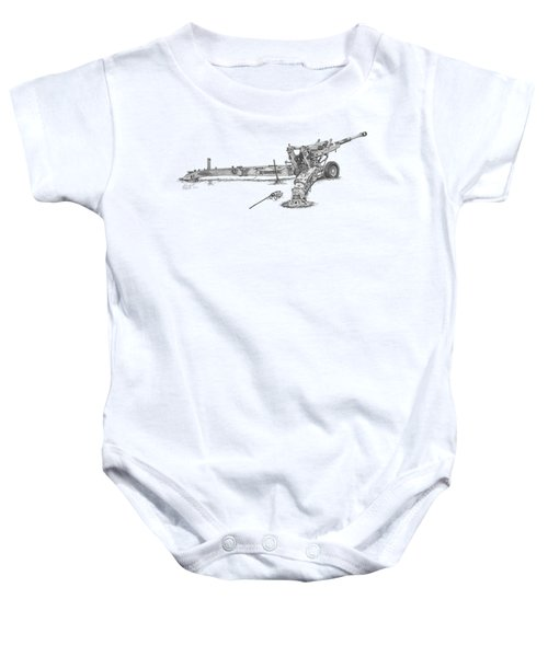 M198 Howitzer - Natural Sized Prints Baby Onesie