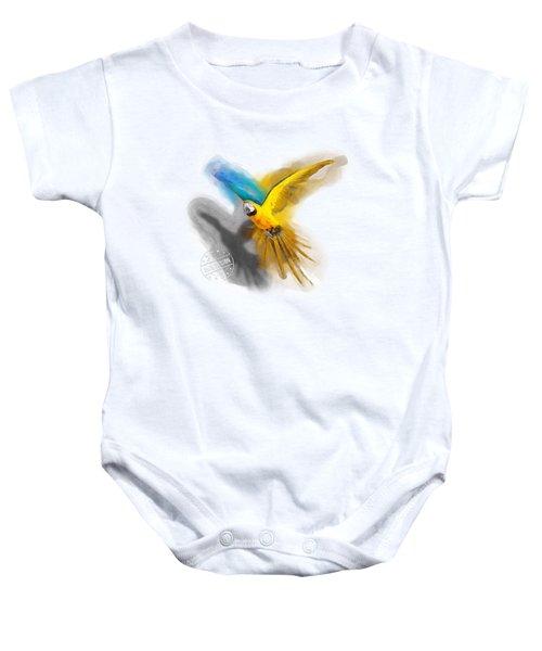 Macaw No 07 Baby Onesie