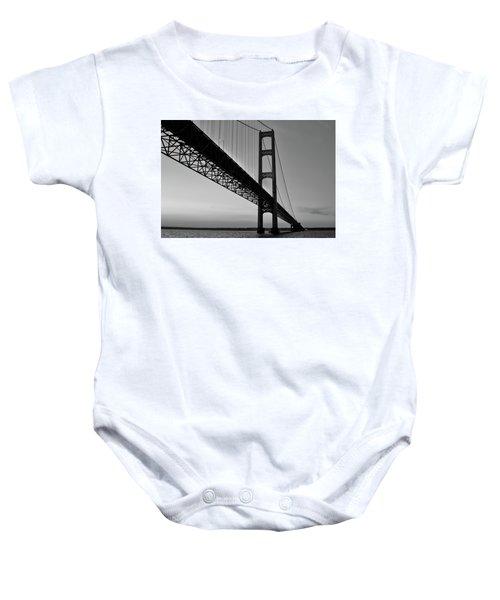 Mackinac Bridge At Sunset Baby Onesie