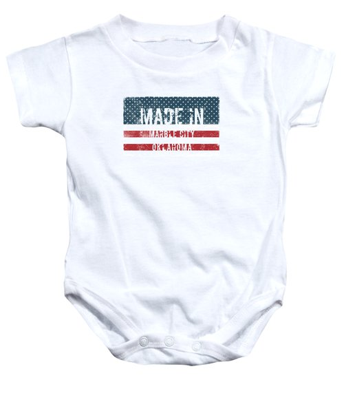 Made In Marble City, Oklahoma Baby Onesie