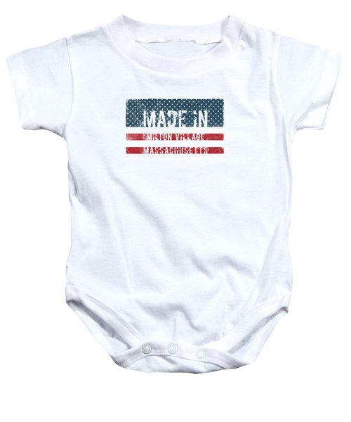 Made In Milton Village, Massachusetts Baby Onesie