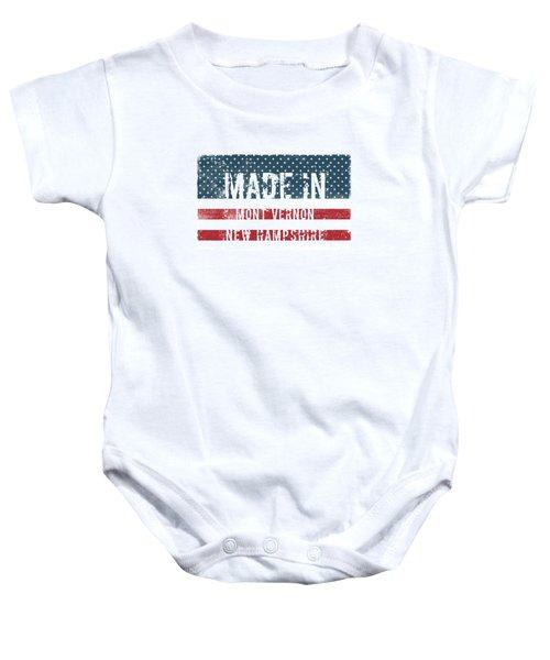 Made In Mont Vernon, New Hampshire Baby Onesie