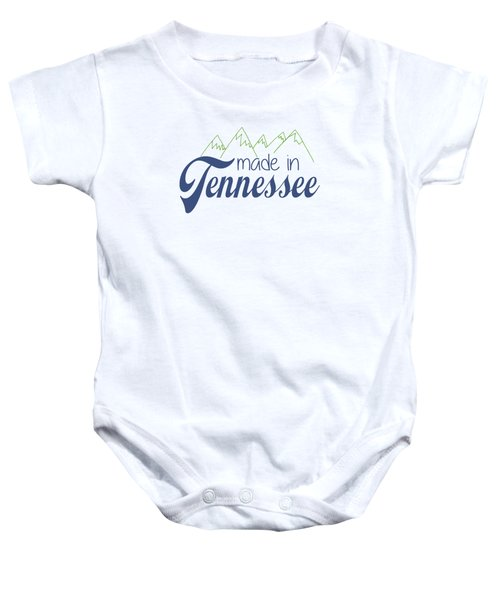 Made In Tennessee Blue Baby Onesie