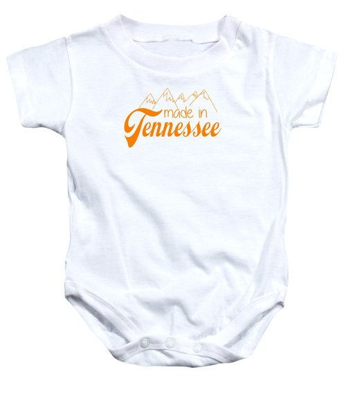 Made In Tennessee Orange Baby Onesie by Heather Applegate