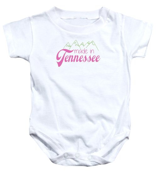 Made In Tennessee Pink Baby Onesie