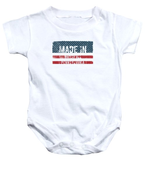 Made In Waterfall, Pennsylvania Baby Onesie
