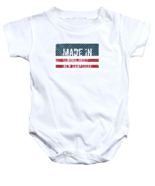 Made In Wonalancet, New Hampshire Baby Onesie