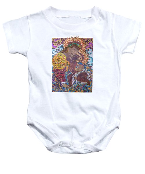 Madonna And Child The Sacred And Profane Baby Onesie