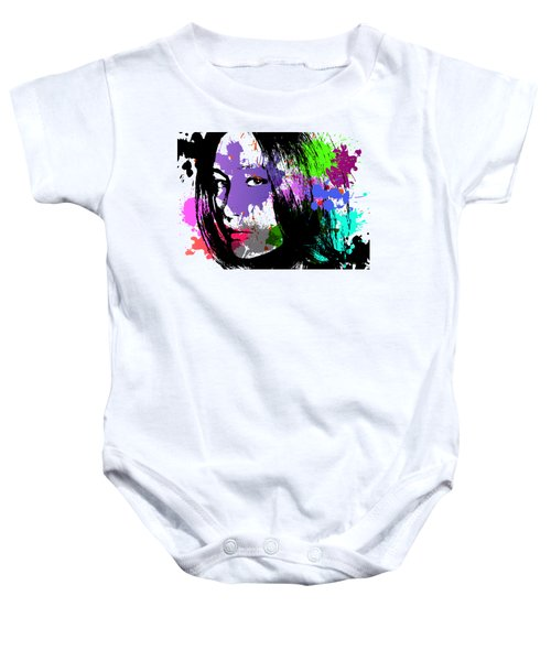 Maggie Q Pop Art Baby Onesie