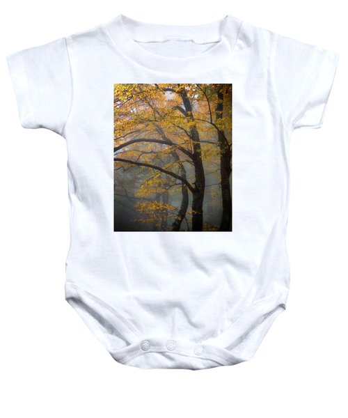 Magical Forest Blue Ridge Parkway Baby Onesie