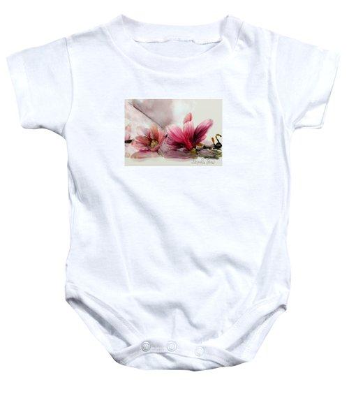 Magnolien .... Baby Onesie by Jacqueline Schreiber