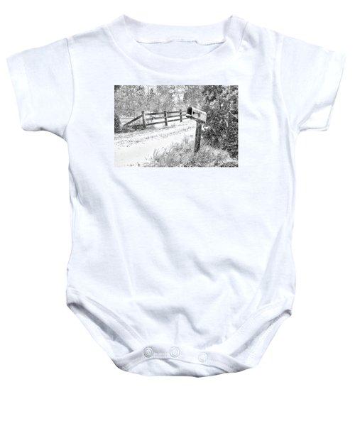 Mailbox Snow Baby Onesie