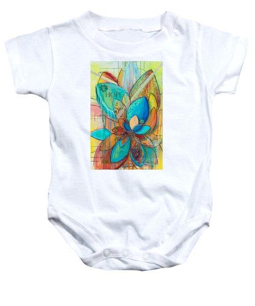 Spirit Lotus With Hope Baby Onesie