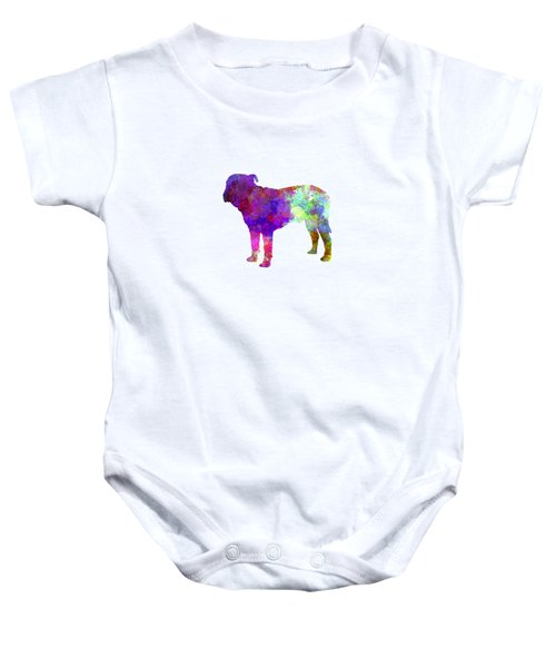 Majorca Mastiff In Watercolor Baby Onesie