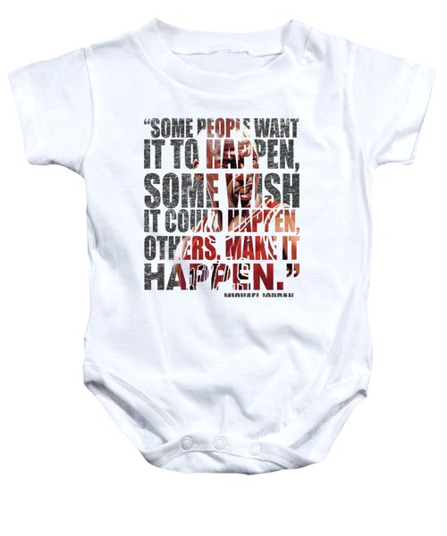 Make It Happen Baby Onesie by Iman Cruz