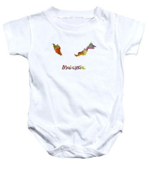 Malaysia In Watercolor Baby Onesie