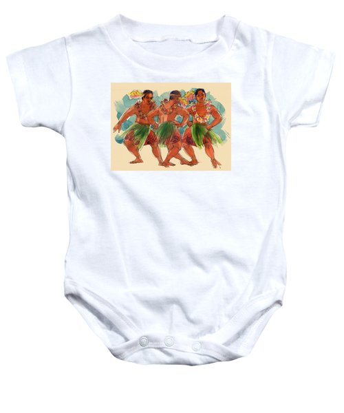 Male Dancers Of Lifuka, Tonga Baby Onesie