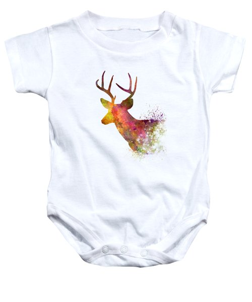 Male Deer 02 In Watercolor Baby Onesie