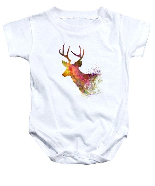 Male Deer 02 In Watercolor Baby Onesie