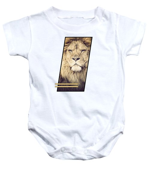 Male Lion Baby Onesie by Sven Horn