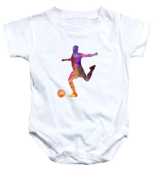 Man Soccer Football Player 03 Baby Onesie by Pablo Romero