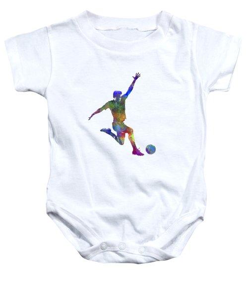 Man Soccer Football Player 05 Baby Onesie by Pablo Romero