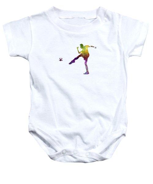 Man Soccer Football Player 15 Baby Onesie by Pablo Romero