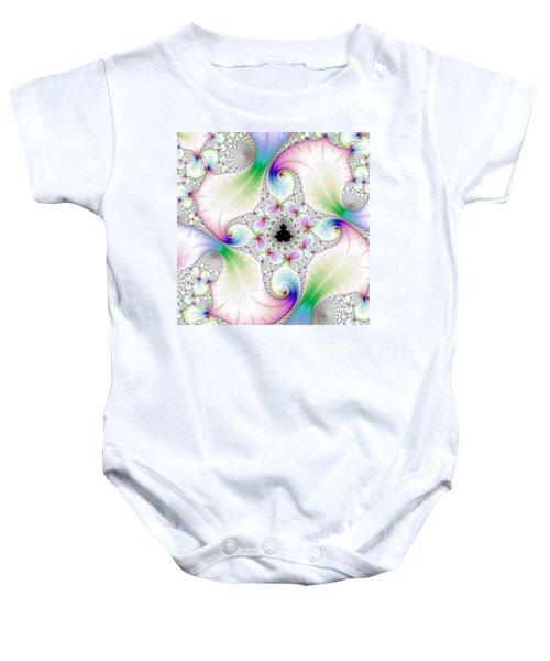 Mandebrot In Pastel Fractal Wonderland Baby Onesie