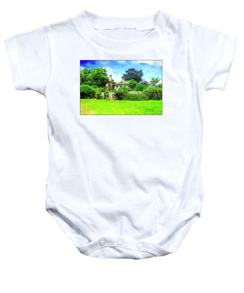 Mansion And Gardens At Harkness Park. Baby Onesie