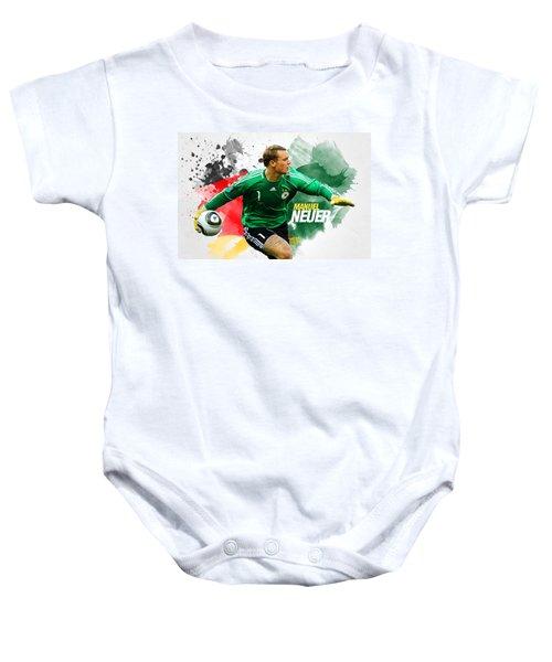 Manuel Neuer Baby Onesie by Semih Yurdabak