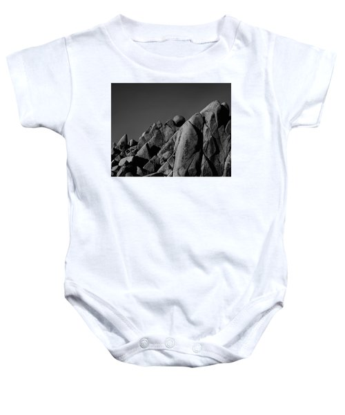 Marble Rock Formation B And W Version Baby Onesie